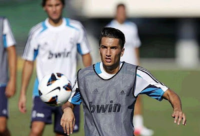 Nuri Sahin training with Real Madrid