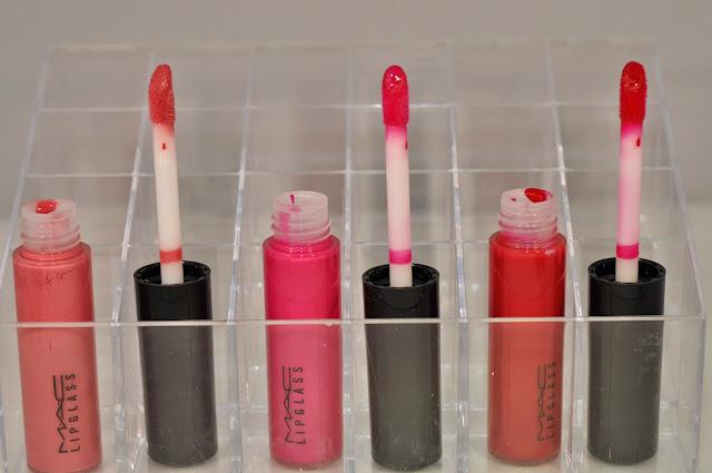 Lipglass: MAC Hoop, Pink Poodle, Glam