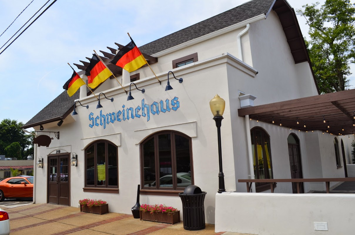 Overton Square That Is Being Reborn As Schweinehaus In Short Period Of Time The Building Has Completely Transformed Into A German Restaurant Beer