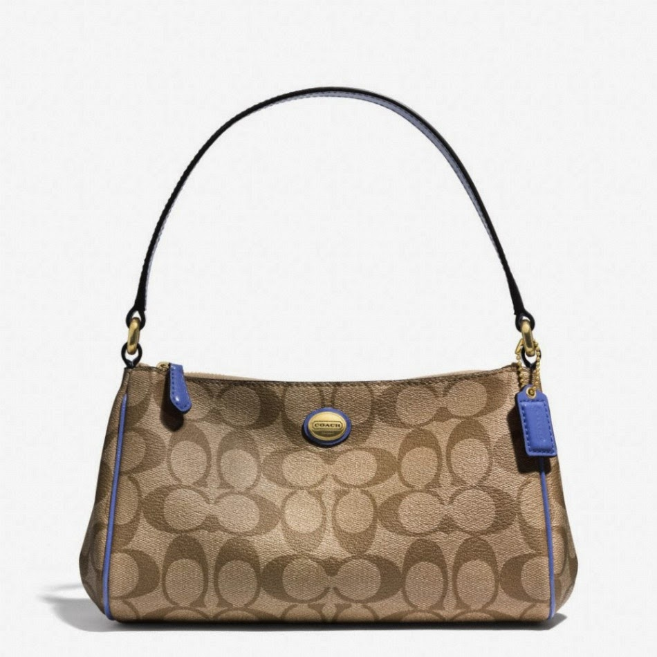 COACH Peyton Signature Top Handle Pouch 51175