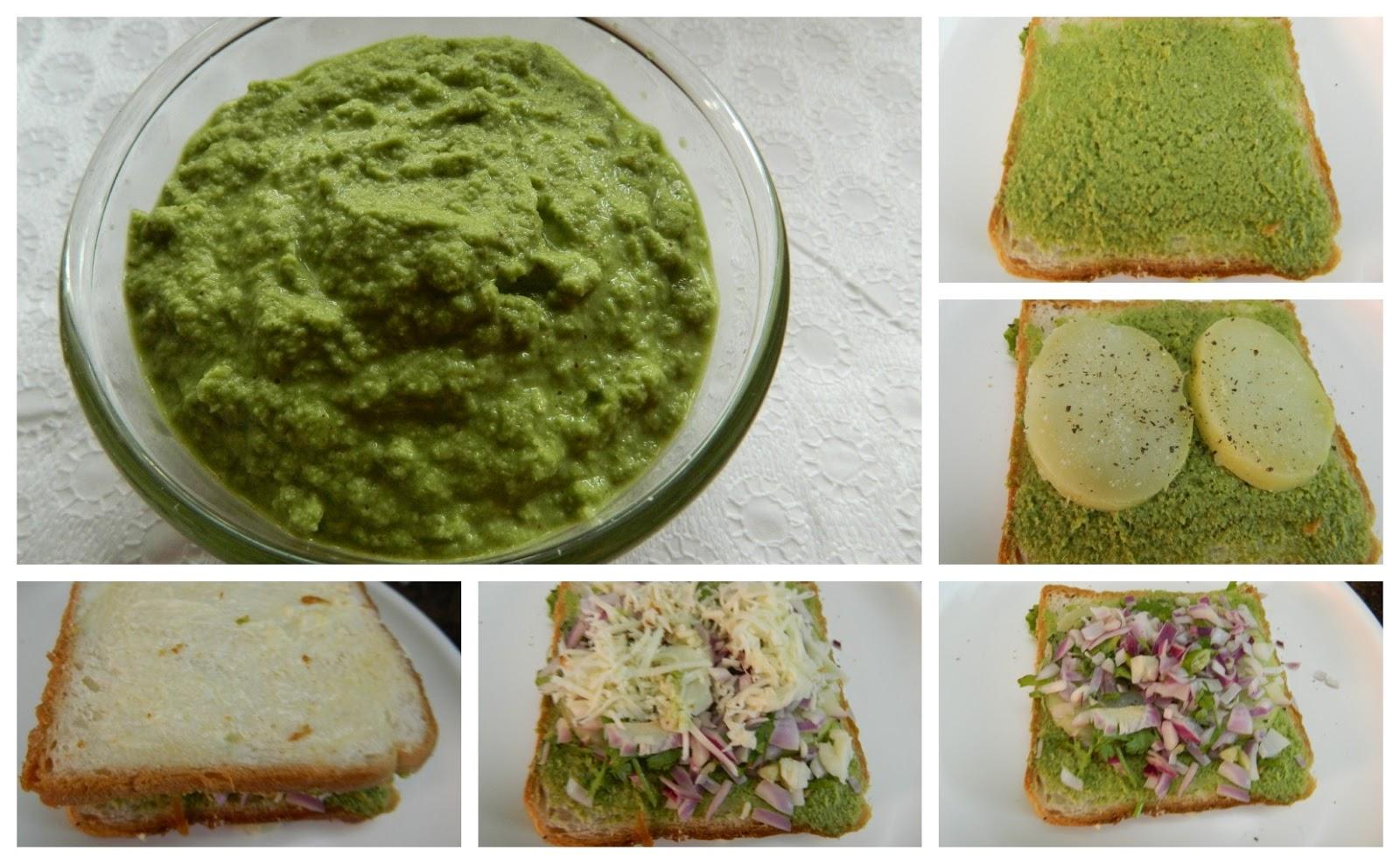 Grilled chutney cheese sandwich | Geeths Dawath