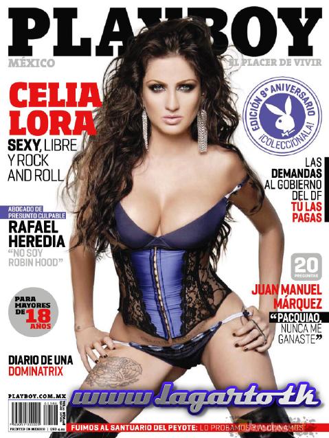 Revista Celia Lora Playboy Mexico Octubre