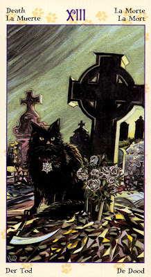 Death - The Tarot of Pagan Cats by Lola Airaghi & Magdelina Messina