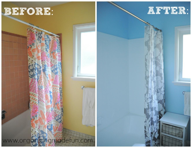 Our kids\' bathroom makeover! Reglazing results! | Organizing Made ...