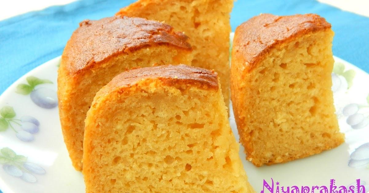 Eggless Vanilla Cake Tarla Dalal