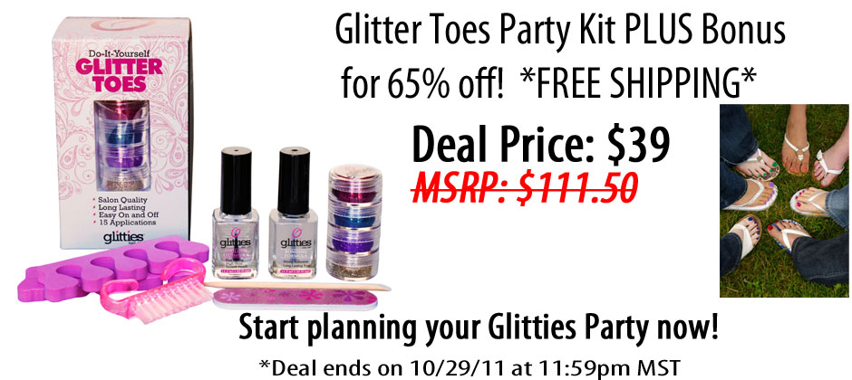 Glitter Toes Kit Deal of The Day Glitter Toes