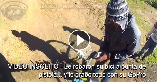 VIDEO INSÓLITO - Le robaron su bici a punta de pistola... y lo grabó todo con su GoPro