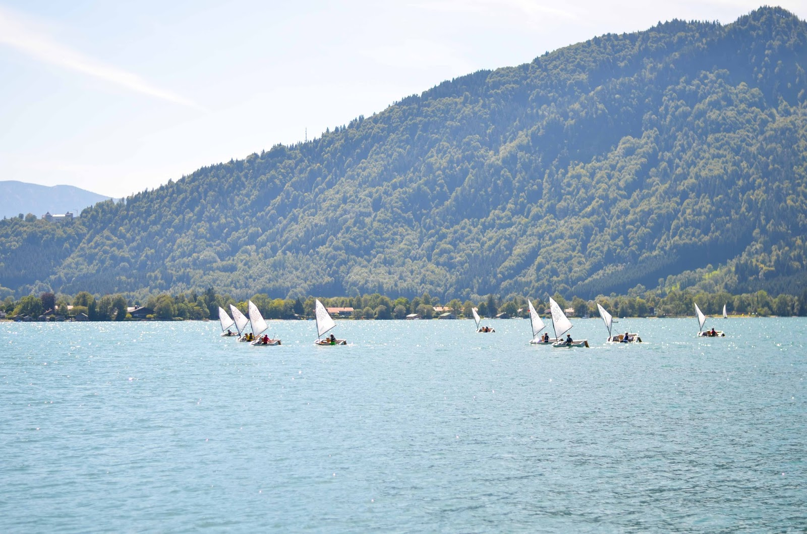 lake tegernsee bavaria alps boats