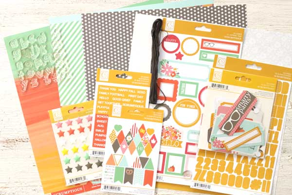 Meghann Andrew Chickaniddy Crafts Halloween Layout supplies