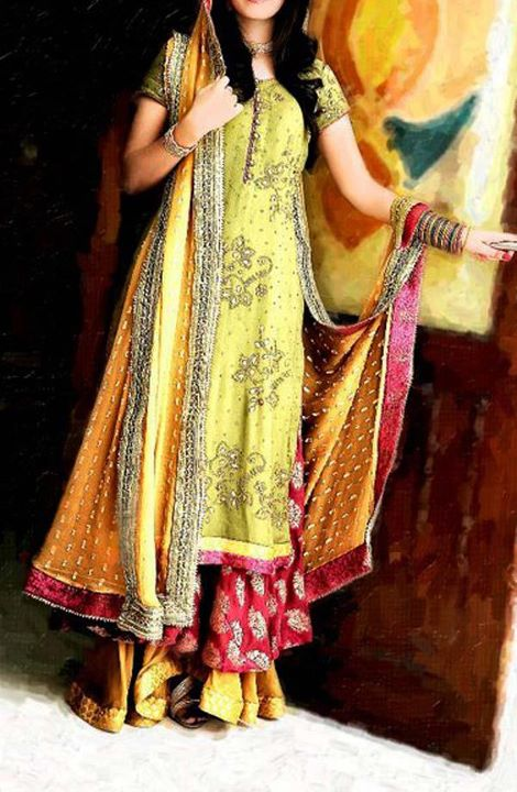 Party Dresses For Mehndi : Fashion tips box mehndi mayon party dresses for girls