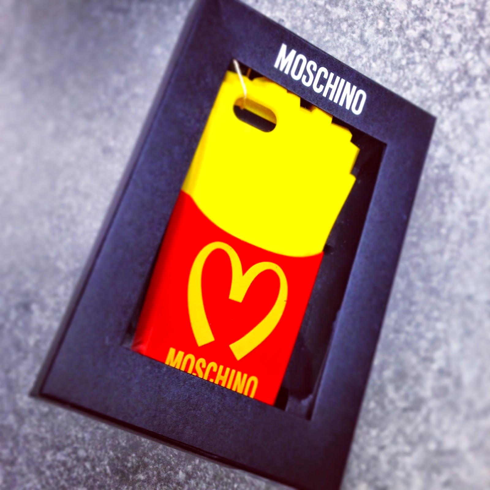 Moschino, fries, iphone