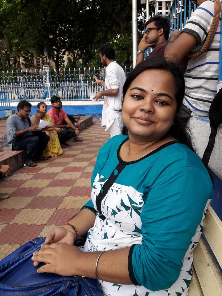 Rima, one of the main organisers of First Kolkata Bengali Poetry Slam