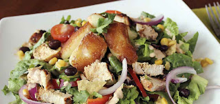 Grilled Chicken Taco Salad with Seared Wiscsconsin Cheese Curds