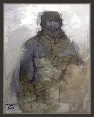 DIVISIONARIOS-DIVISION AZUL-ARTE-ART-RUSIA-WW2-PINTURA-PAINTINGS-ERNEST DESCALS