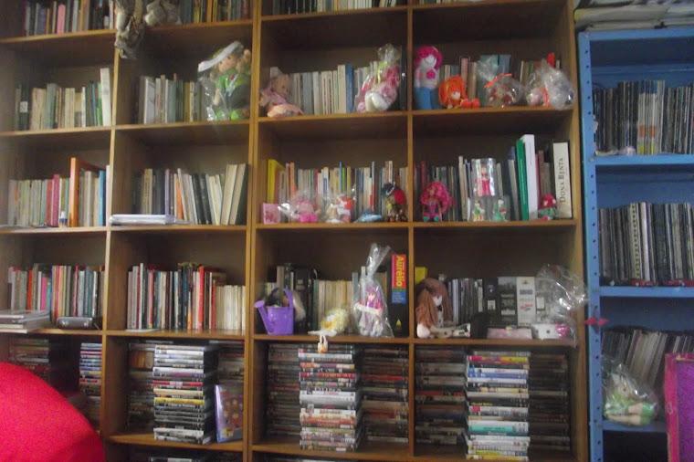 Livros e bonequinhas