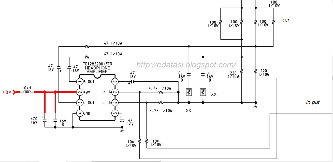 Electronic Circuit Componnent Data Lesson And Etc Tda 2822 Headphone Amplifier Explanation Circuits