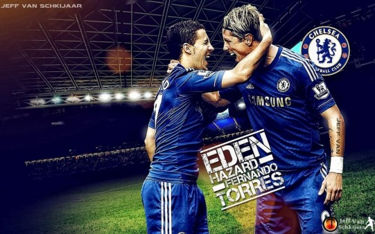 Eden Hazard and Fernando Torres Chlsea