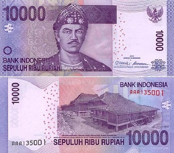 the ten thousand rupiah note