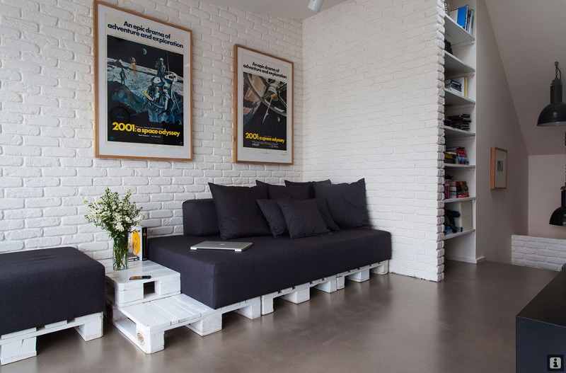 decoracao de apartamentos pequenos para homens:Living Room Furniture From Pallets