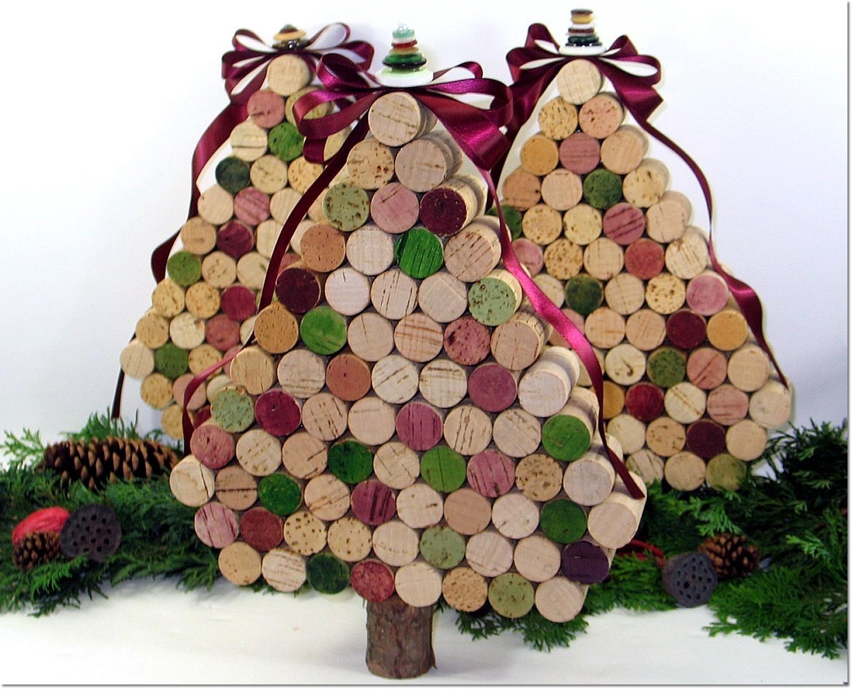 Arboles de navidad hechos con corcho curiosas ideas - Arboles de navidad artesanales ...