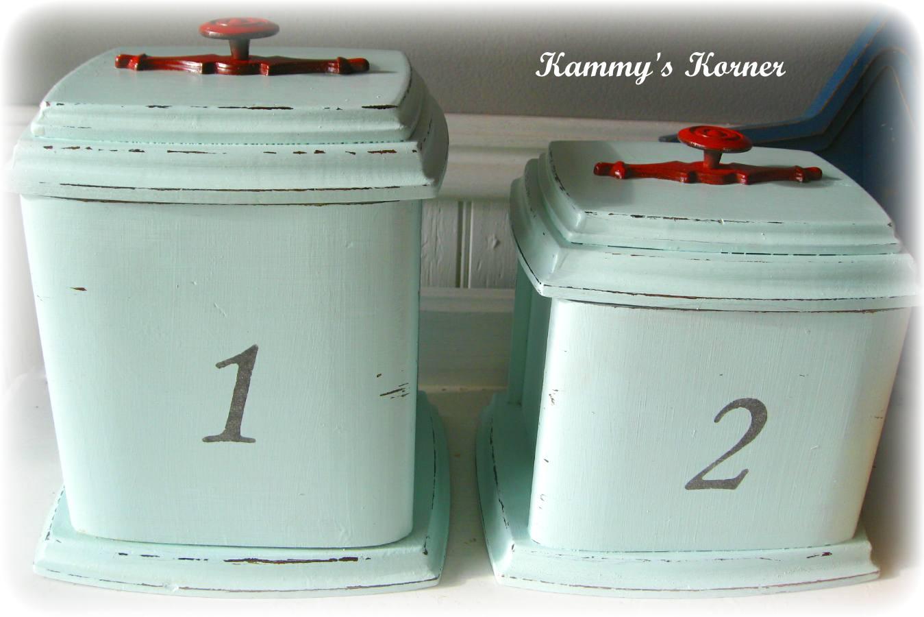 Kammy\'s Korner: Vintage Revival: Shabby Canister Set