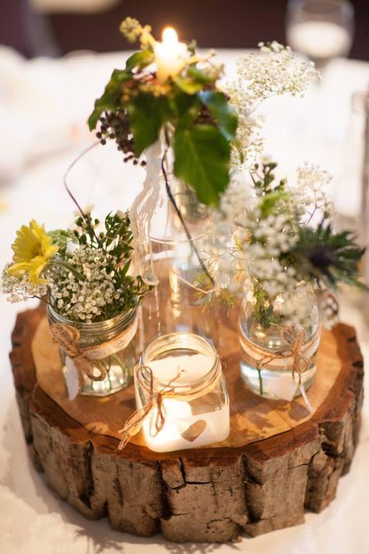 Alquiler de vestidos y accesorios dresseos - Centro de mesa rustico ...