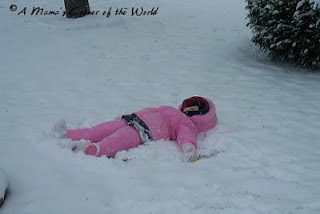 Snow angels in the first snowfall.  http://www.amamascorneroftheworld.com
