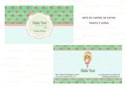 arte do cartão de visitas