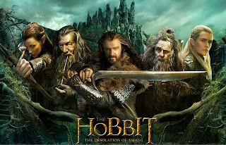 Hobbit 2 movie poster with Richard Armitage, Ian McKellen, Sylvester McCoy, Evangeline Lilly and Orlando Bloom