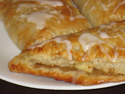 the layers and filling of an apple turnover