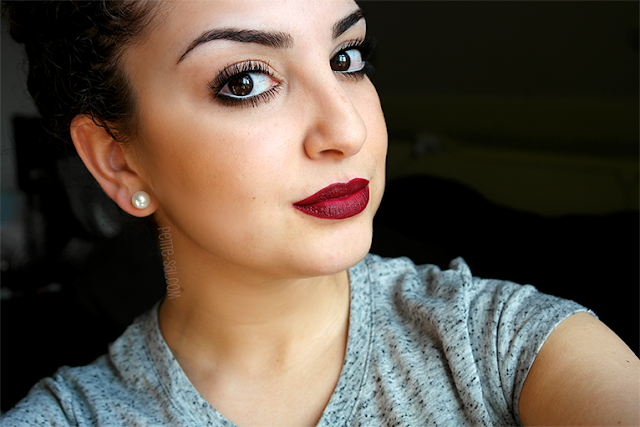 make up look diva mac lipstick