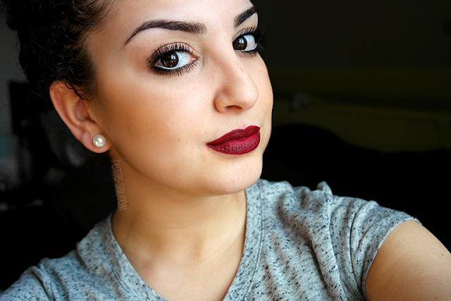 make up look diva mac lipstick