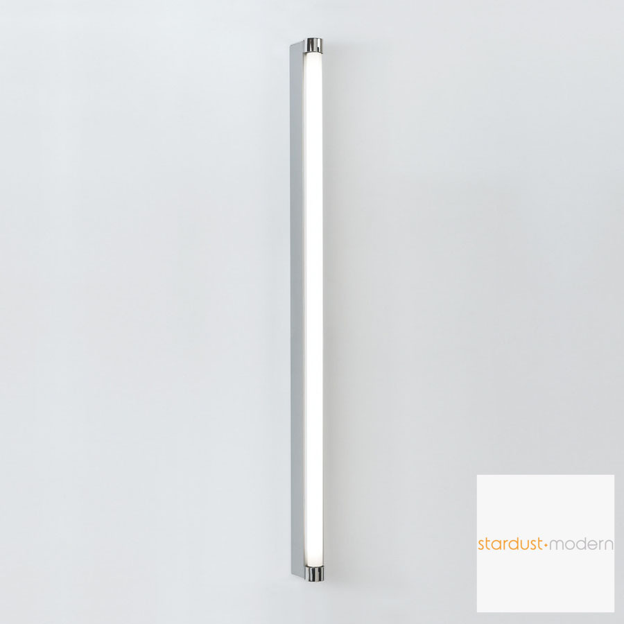 Basic strip bathroom wall light silver white artemide for Bathroom strip light