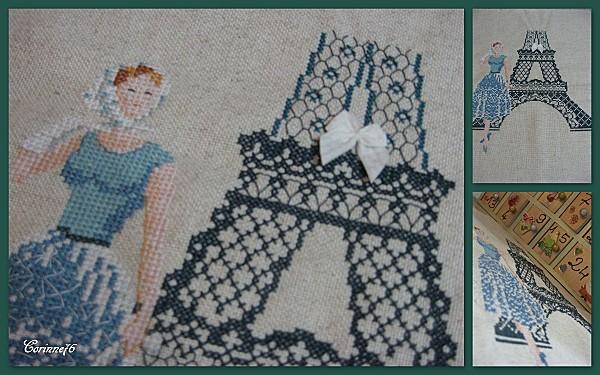 Парижанка схема вышивки крестом
