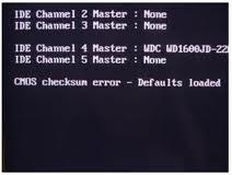 Cmos Checksum Error - Defaults Loaded
