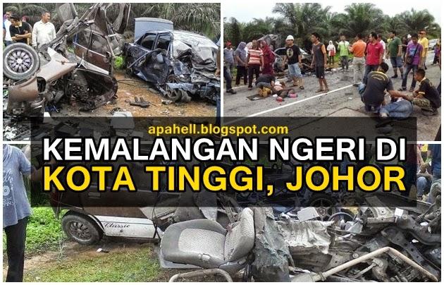 Kemalangan Ngeri di Kota Tinggi, Johor (5 Gambar)