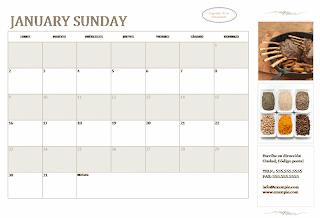 calendario pequeña empresa mes