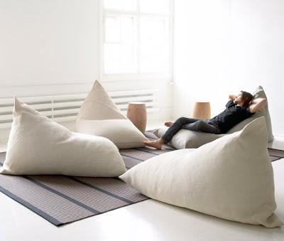 Sillon pouf gigante en forma de almohada