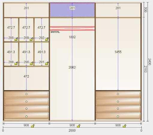 Up redes soluciones inform ticas programa de dise o de - Medidas de un armario ...