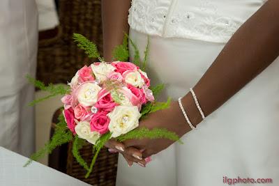 mariage Guadeloupe, Les Abymes, bouquet de la mariée