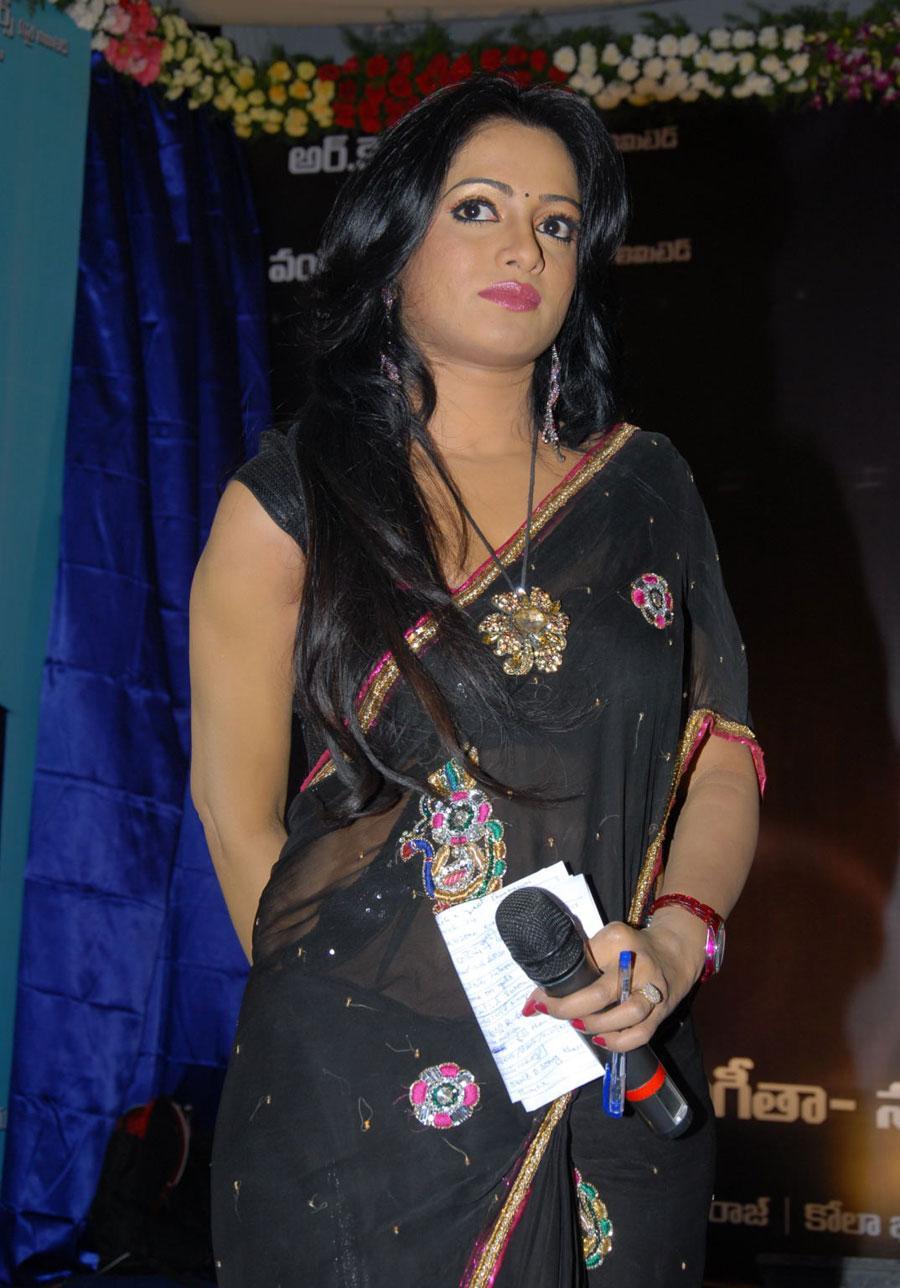 Udaya bhanu at 3 audio launch in saree