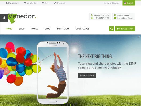 Venedor - WooCommerce Theme