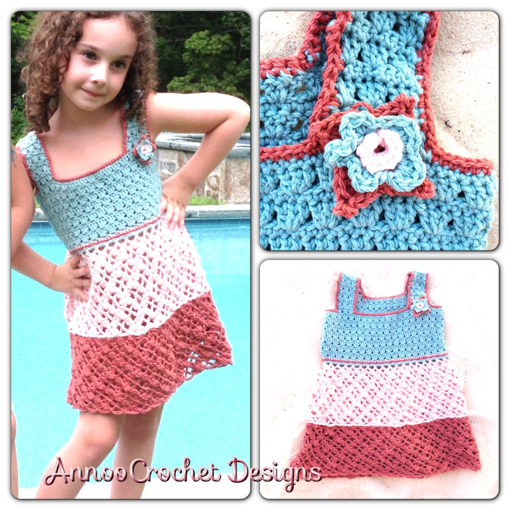 Crochet World : ... Tricolor Dress Free Pattern Annoos Crochet World Bloglovin