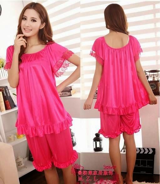 Model Baju Tidur Korea Warna Pink