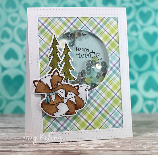 Deck the Halls with Inky Paws - Day 2 - Amy Kolling | Fox Hollow Stamp set by Newton's Nook Designs #newtonsnook
