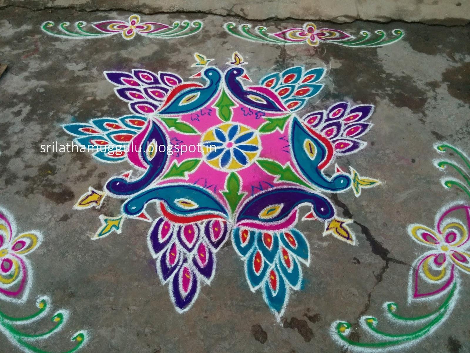 New Year 2016 Welcome Muggulu | Srilatha Muggulu