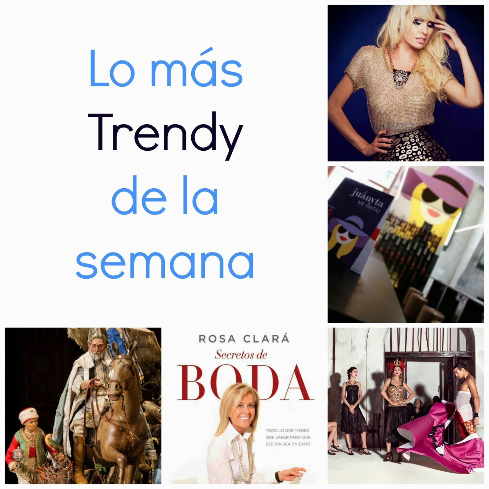 planes Madris Navidad trendy Barbarella campaña Dolce Gabbana Libro Rosa Clara tendencias