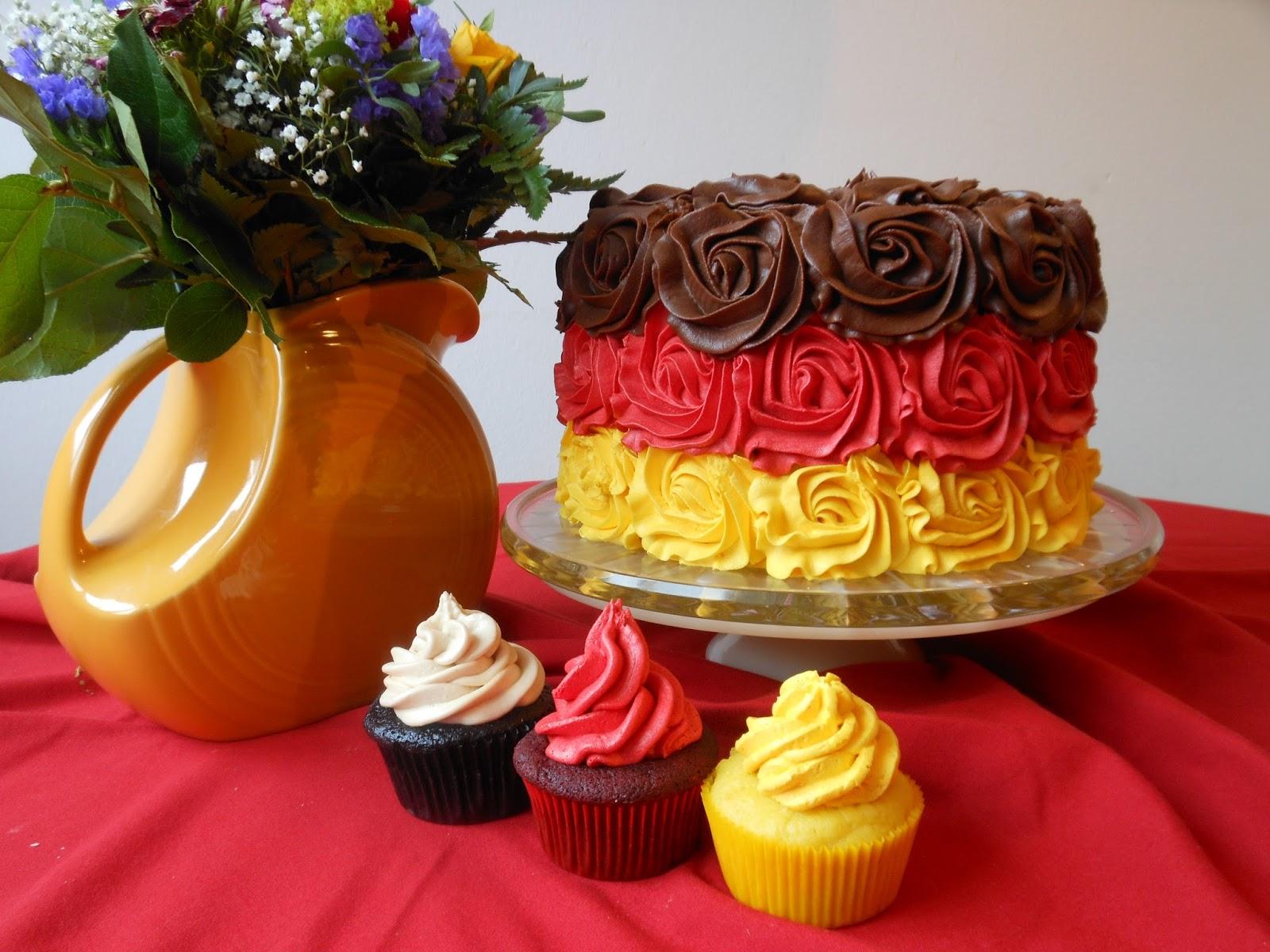 German flag birthday cake