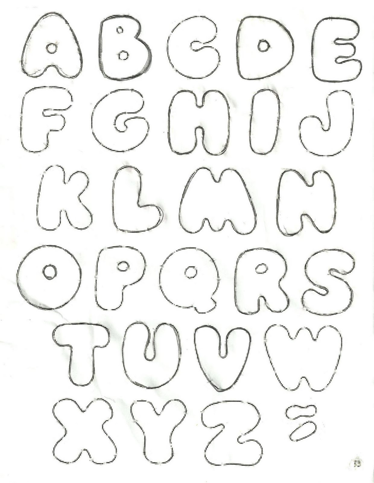 Moldes De Alfabetos