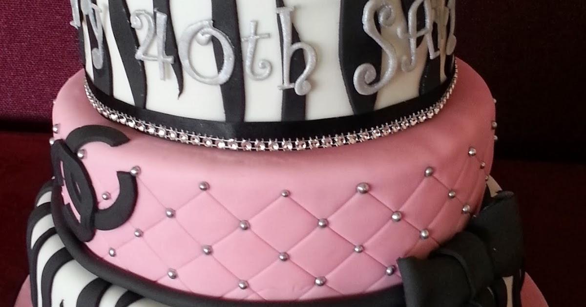Jos Cakes 3 Tier Zebra And Pink 40th Birthday Cake